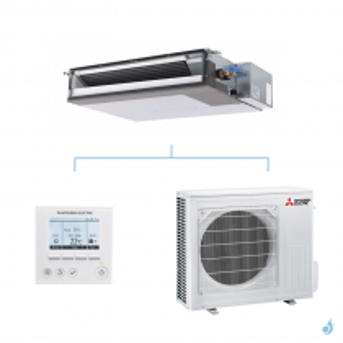 MITSUBISHI climatisation mono split gaz R32 gainable extra plat SEZ-M 2,5kW SEZ-M25DAL + SUZ-M25VA A