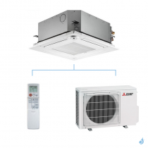 MITSUBISHI climatisation mono split gaz R32 cassette 4 voies SLZ-M 2,5kW SLZ-M25FA + SUZ-M25VA A++
