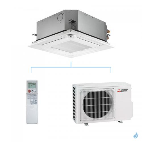 MITSUBISHI climatisation mono split gaz R32 cassette 4 voies SLZ-M 3,5kW SLZ-M35FA + SUZ-M35VA A++