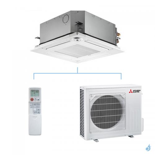 MITSUBISHI climatisation mono split gaz R32 cassette 4 voies SLZ-M 5kW SLZ-M50FA + SUZ-M50VA A++