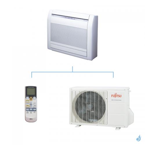 FUJITSU climatisation mono split gaz R410A console compacte 3,5kW AGYG12LVCA + AOYG12LVCA A++