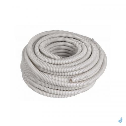 Tuyau d'évacuation des condensats annelé diamètre 16/18 mm longueur 50 m