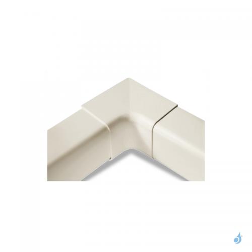 Angle interne à 90° pour goulotte Artiplastic Ivoire