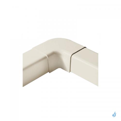 Angle plat à 90° pour goulotte Artiplastic Ivoire