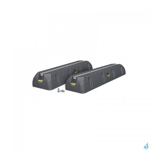 Support sol Rubber Foot 600 mm pour unités extérieures de climatisation