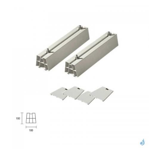 Support sol PVC 450 mm pour unités extérieures de climatisation