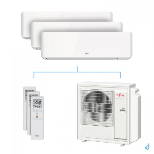 Climatisation tri-split FUJITSU KMCC 8kW taille 2 + 2.5 + 3.5 - ASYG07/09/12KMCC + AOYG30KBTA4
