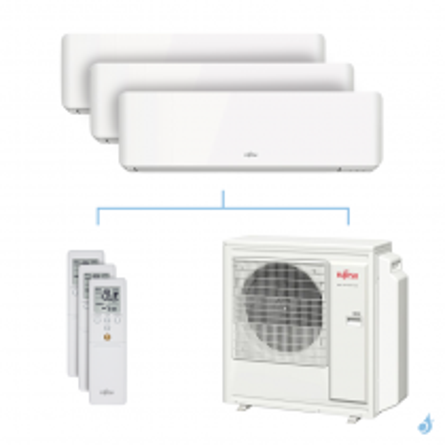 Climatisation tri-split FUJITSU KMCC 8kW taille 2 + 2.5 + 4 - ASYG07/09/14KMCC + AOYG30KBTA4