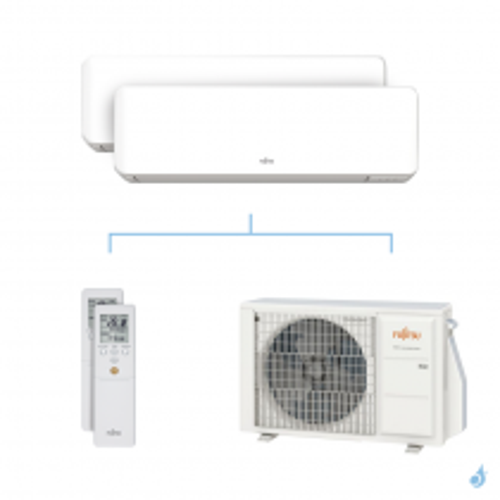 Climatisation bi-split FUJITSU KMCC 4kW taille 2 + 2.5 - ASYG07/09KMCC + AOYG14KBTA2