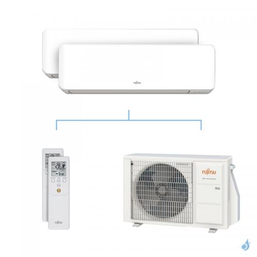 Climatisation bi-split FUJITSU KMCC 4kW taille 2 + 3.5 - ASYG07/12KMCC + AOYG14KBTA2