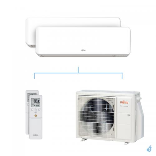 Climatisation bi-split FUJITSU KMCC 5kW taille 2 + 2.5 - ASYG07/09KMCC + AOYG18KBTA2