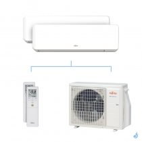 Climatisation bi-split FUJITSU KMCC 5kW taille 2 + 3.5 - ASYG07/12KMCC + AOYG18KBTA2
