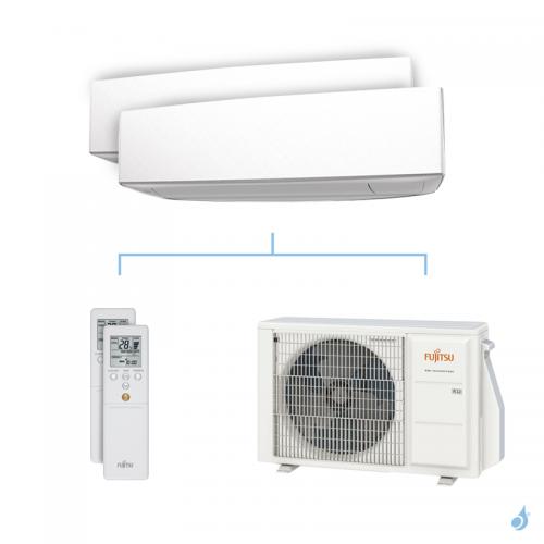 Climatisation bi-split FUJITSU KETA 4kW taille 2.5 + 3.5 - ASYG09/12KETA + AOYG14KBTA2
