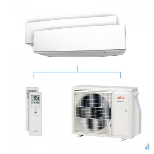 Climatisation bi-split FUJITSU KETA 5kW taille 2.5 + 3.5 - ASYG09/12KETA + AOYG18KBTA2