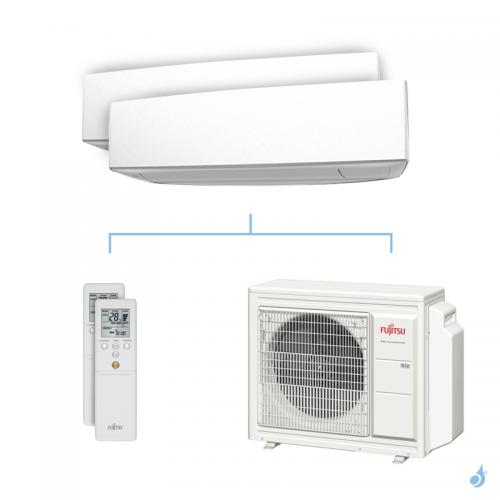 Climatisation bi-split FUJITSU KETA 6.8kW taille 3.5 + 3.5 - ASYG12/12KETA + AOYG24KBTA3