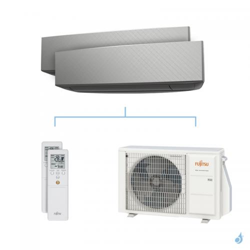 Climatisation bi-split FUJITSU KETA-B 4kW taille 2.5 + 3.5 - ASYG09/12KETA-B + AOYG14KBTA2