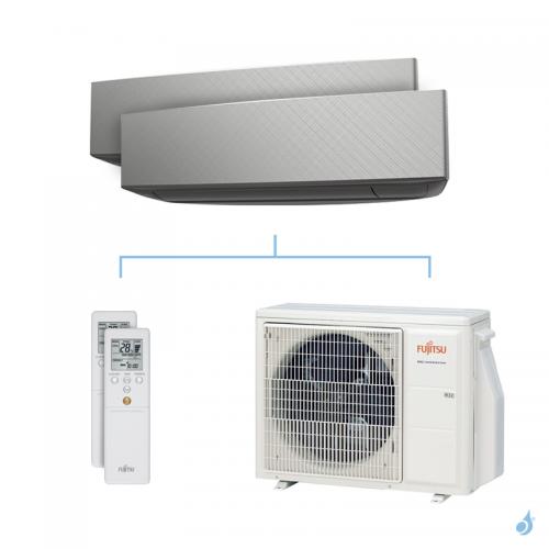 Climatisation bi-split FUJITSU KETA-B 5kW taille 3.5 + 3.5 - ASYG12/12KETA-B + AOYG18KBTA2