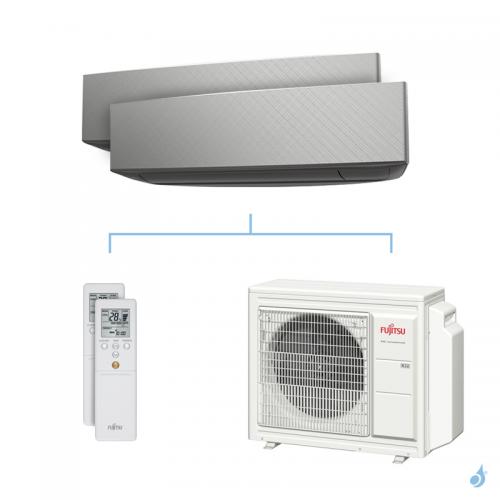 Climatisation bi-split FUJITSU KETA-B 5.4kW taille 2.5 + 2.5 - ASYG09/09KETA-B + AOYG18KBTA3