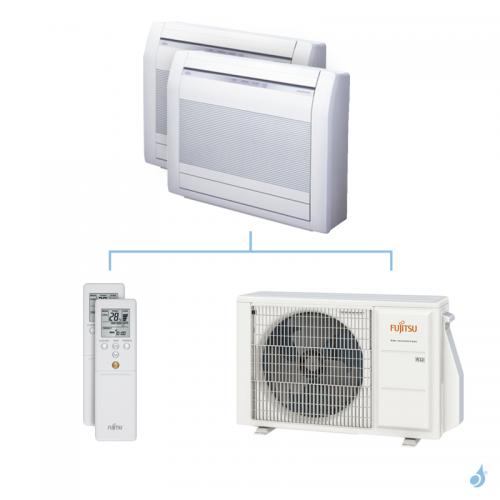 Climatisation bi-split FUJITSU Console KVCA 4kW taille 2.5 + 2.5 - AGYG09/09KVCA + AOYG14KBTA2