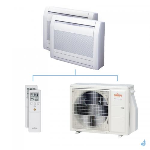 Climatisation bi-split FUJITSU Console KVCA 5kW taille 2.5 + 2.5 - AGYG09/09KVCA + AOYG18KBTA2