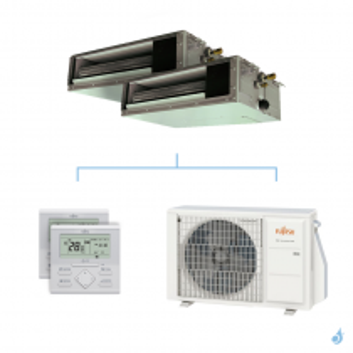 Climatisation bi-split FUJITSU gainable KSLAP 4kW taille 2 + 2.5 - ARXG07/09KSLAP + AOYG14KBTA2