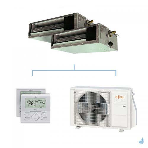 Climatisation bi-split FUJITSU gainable KSLAP 4kW taille 2.5 + 2.5 - ARXG09/09KSLAP + AOYG14KBTA2