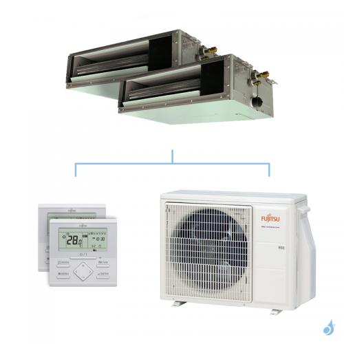 Climatisation bi-split FUJITSU gainable KSLAP 5kW taille 3.5 + 3.5 - ARXG12/12KSLAP + AOYG18KBTA2