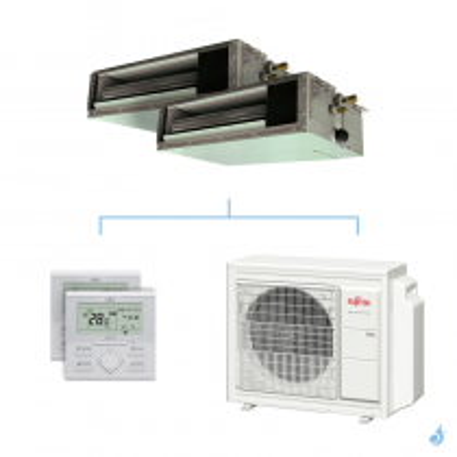 Climatisation bi-split FUJITSU gainable KSLAP 5.4kW taille 2 + 2.5 - ARXG07/09KSLAP + AOYG18KBTA3
