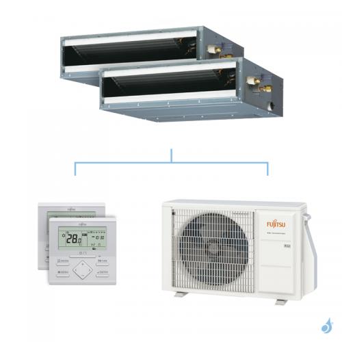 Climatisation bi-split FUJITSU gainable KLLAP 4kW taille 2.5 + 2.5 - ARXG09/09KLLAP + AOYG14KBTA2