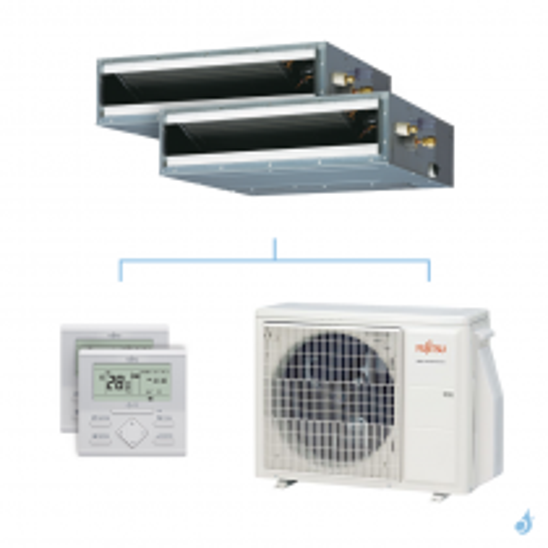 Climatisation bi-split FUJITSU gainable KLLAP 5kW taille 2 + 4 - ARXG07/14KLLAP + AOYG18KBTA2