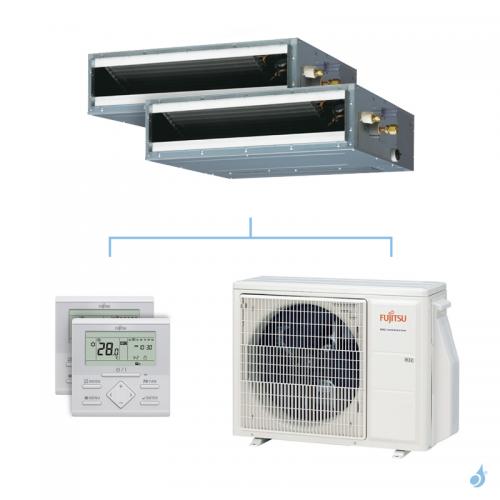Climatisation bi-split FUJITSU gainable KLLAP 5kW taille 2.5 + 2.5 - ARXG09/09KLLAP + AOYG18KBTA2