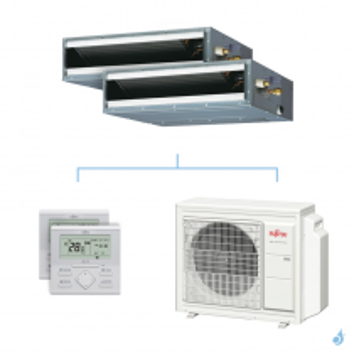 Climatisation bi-split FUJITSU gainable KLLAP 5.4kW taille 2.5 + 3.5 - ARXG09/12KLLAP + AOYG18KBTA3