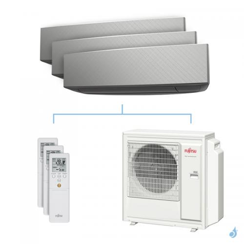 Climatisation tri-split FUJITSU KETA-B 8kW taille 2 + 2.5 + 3.5 - ASYG07/09/12KETA-B + AOYG30KBTA4