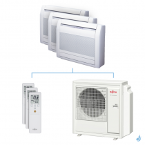 Climatisation tri-split FUJITSU Console KVCA 9.5kW taille 2.5 + 3.5 + 4 - AGYG09/12/14KVCA + AOYG36KBTA5