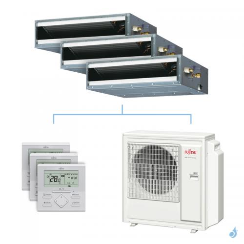 Climatisation tri-split FUJITSU gainable KLLAP 8kW taille 2 + 2 + 4 - ARXG07/07/14KLLAP + AOYG30KBTA4