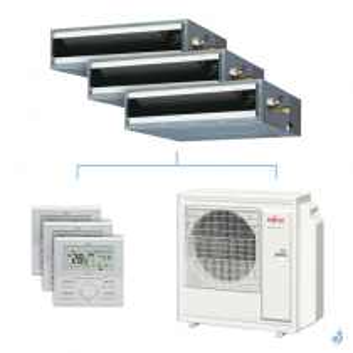 Climatisation tri-split FUJITSU gainable KLLAP 8kW taille 2 + 2.5 + 2.5 - ARXG07/09/09KLLAP + AOYG30KBTA4