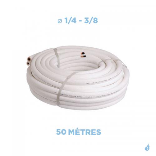 Liaison frigorifique bi-tube isolée 1/4 - 3/8 M1 Longueur 50M