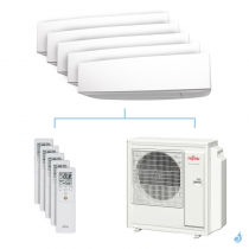 Climatisation penta-split FUJITSU KETA 9.5kW taille 2 + 2 + 2.5 + 2.5 + 3.5 - ASYG07/07/09/09/12KETA + AOYG36KBTA5