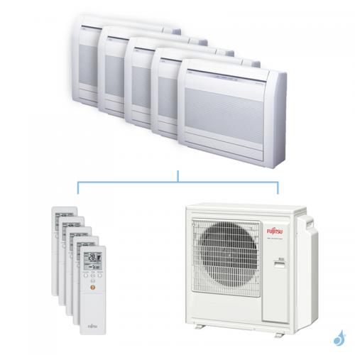 Climatisation penta-split FUJITSU Console KVCA 9.5kW taille 2.5 + 2.5 + 2.5 + 3.5 + 4 - AGYG09/09/09/12/14KVCA + AOYG36KBTA5