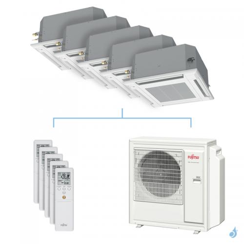 Climatisation penta-split FUJITSU cassette KVLA 9.5kW taille 2 + 2 + 2.5 + 2.5 + 6 - AUXG07/07/09/09/22KVLA + AOYG36KBTA5