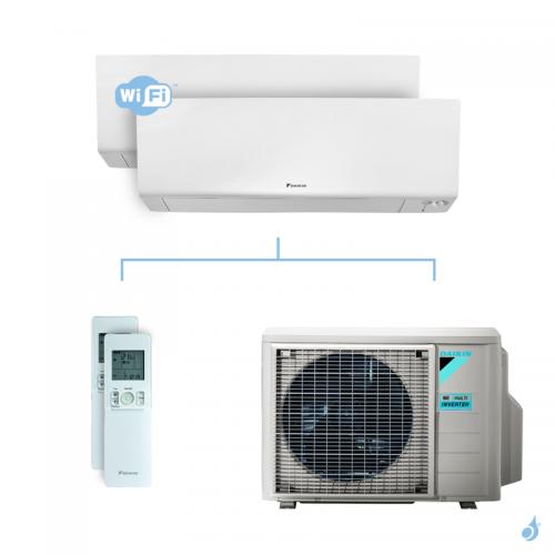 Climatisation bi-split DAIKIN Perfera FTXM-R 4kW taille 2.5 + 2.5 - FTXM25R + FTXM25R + 2MXM40N