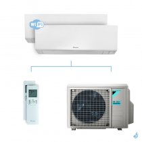 Climatisation bi-split DAIKIN Perfera FTXM-R 5kW taille 3.5 + 3.5 - FTXM35R + FTXM35R + 2MXM50N