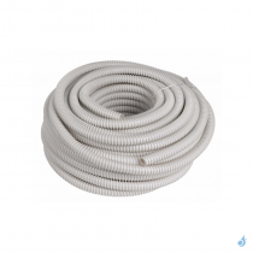 Tuyau d'évacuation des condensats annelé diamètre 16/18 mm longueur 30 m