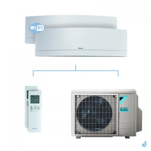Climatisation bi-split DAIKIN Emura blanc FTXJ-MW 5kW taille 2.5 + 3.5 - FTXJ25MW + FTXJ35MW + 2MXM50N
