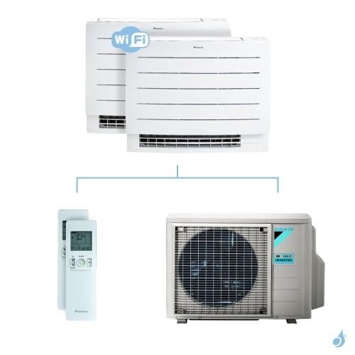 Climatisation bi-split DAIKIN Console Perfera FVXM-A 4kW taille 2.5 + 2.5 - FVXM25A + FVXM25A + 2MXM40N