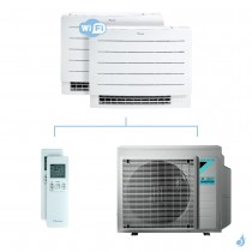 Climatisation bi-split DAIKIN Console Perfera FVXM-A 4kW taille 2.5 + 2.5 - FVXM25A + FVXM25A + 3MXM40N