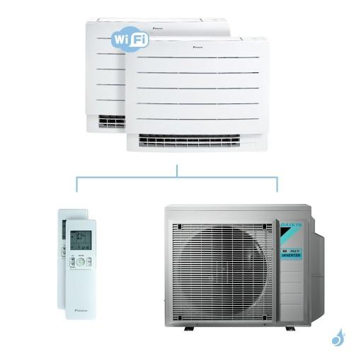 Climatisation bi-split DAIKIN Console Perfera FVXM-A 5.2kW taille 2.5 + 2.5 - FVXM25A + FVXM25A + 3MXM52N