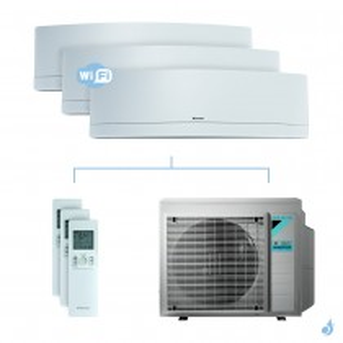 Climatisation tri-split DAIKIN Emura blanc FTXJ-MW 6kW taille 2 + 2 + 3.5 - FTXJ20/20/35MW + 3MXM68N