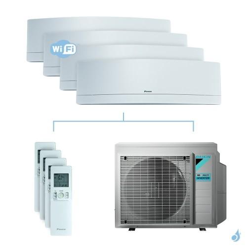 Climatisation quadri-split DAIKIN Emura blanc FTXJ-MW 7.4kW taille 2 + 2 + 2.5 + 2.5 - FTXJ20/20/25/25MW + 4MXM80N