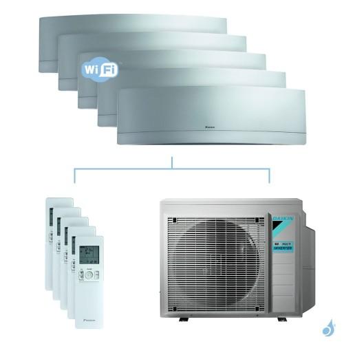 Climatisation penta-split DAIKIN Emura argent FTXJ-MS 8.5kW taille 2 + 2 + 2.5 + 2.5 + 5 - FTXJ20/20/25/25/50MS + 5MXM90N